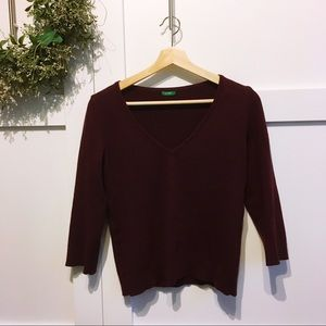 UNITED COLORS OF BENETTON- wool blend sweater
